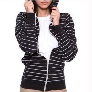 American apparel striped hoodie